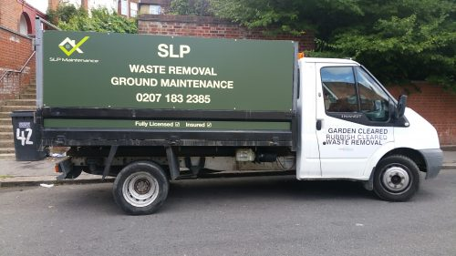 rubbish clearance tipper truck